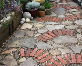 Porous Paving for patios.